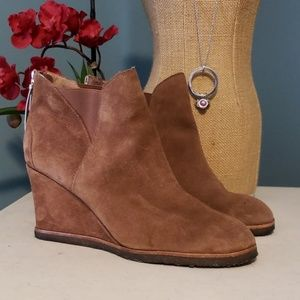 BETTYE MULLER Suede Wedge Booties